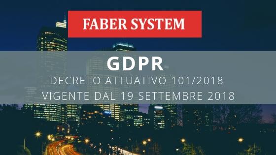 GDPR: decreto 101 in vigore dal 19 settembre