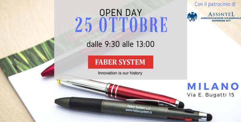 Open day 25 ottobre 2018