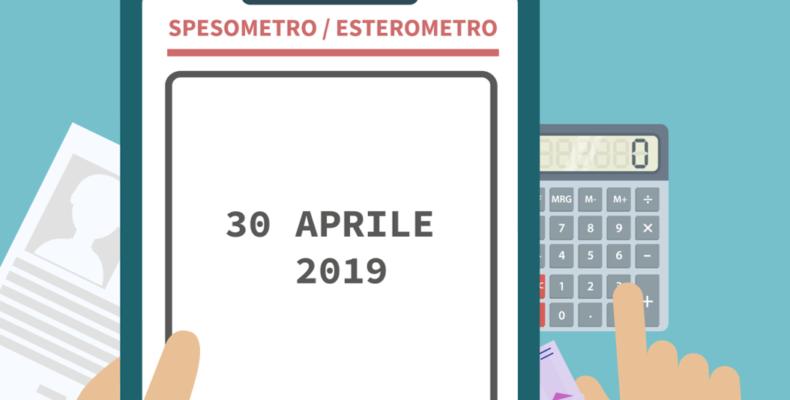 SPESOMETRO ED ESTEROMETRO: PROROGA AL 30 APRILE